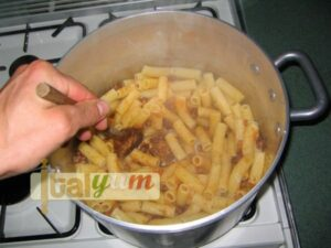 Maccheroni with sausage and beans sauce   Pasta recipes