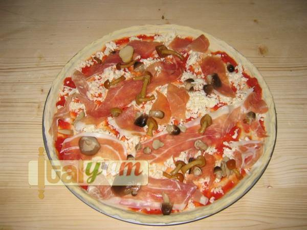 Home made pizza using fresh yeast dough | Pizza recipes