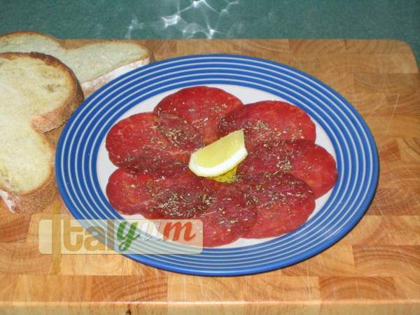 Bresaola with lemon and oregano | Meat Recipes