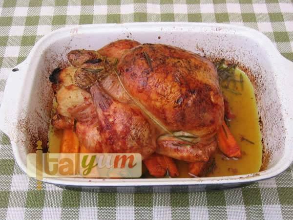 Stuffed roast chicken (Pollo ripieno) | Meat Recipes