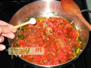 Red mullets in tomato sauce (Triglie alla Livornese) | Seafood recipes