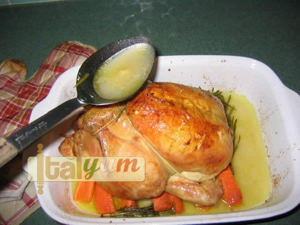 Stuffed roast chicken (Pollo ripieno)   Meat Recipes